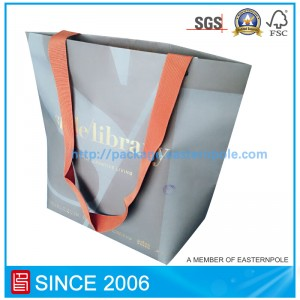 High end brand clothing shopping bag with custom design