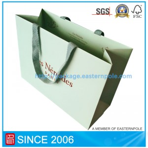 High end paper bag with inverted bottom