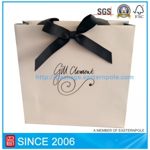 Elegant gift paper bag with custom design