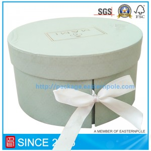 Luxury rigid round chocolate box with double layers