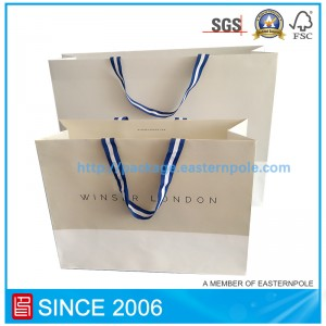 White  kraft paper bag for clothing