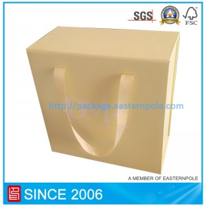 Yellow foldable magnet seal packaging box