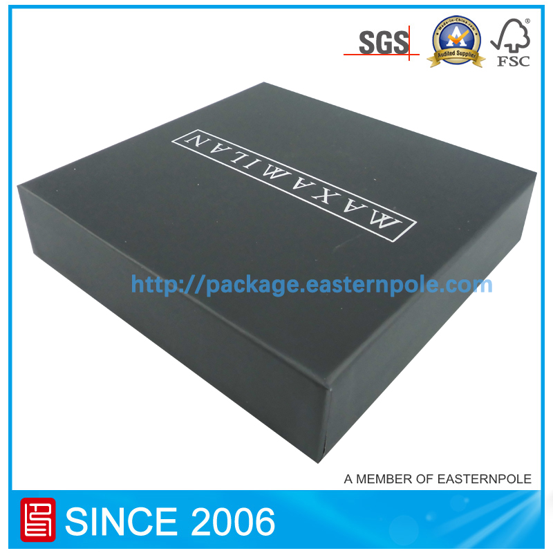 Black rigid cardboard drawer  box
